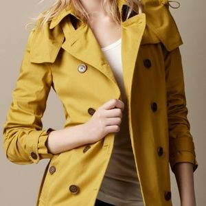 Burberry trench coat in yellow